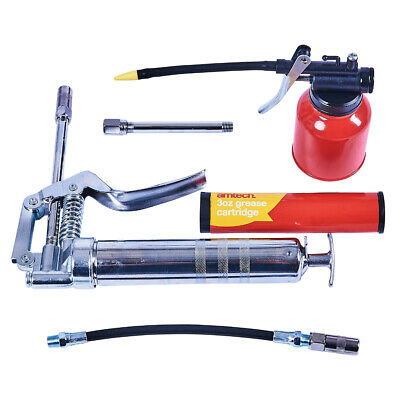 Professional Mini Air Grease Gun Kit Pneumatic Lubricating Greasing Flexi Nozzle