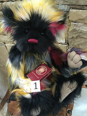 Charlie Bears Scrummy Fully Jointed 41cm Collectable Teddy Bear 2016 Collection