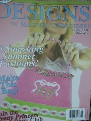 Designs In Machine Embroidery May/June 2005 #32- 10 Projects