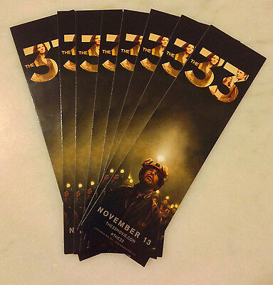 THE 33 (2015) Bookmark; Lot of 8; Movie Promo; Hector Tobar; Deep Down Dark