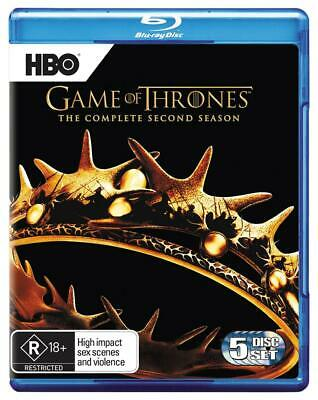 Game Of Thrones: Season 2 - Blu Ray Region B Free Shipping!