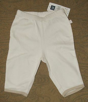 BABY GAP Unisex Stretch Pants  Ivory  0-3 Months  NWT
