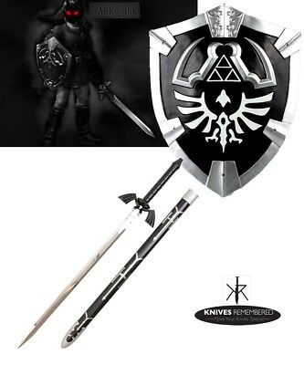 DARK Legend Zelda Link's Hylian Shield + Master Sword Combo Set HALLOWEEN XMAS
