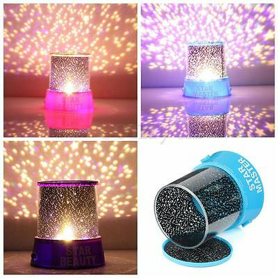 STARRY NIGHT LED Romatic Cosmos Moon Star Master Projector Sky Light Lamp Baby