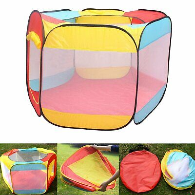 Ball Pit Play Tent for Kids 6-sided Playhouse for Children Indoor Outdoor Tent
