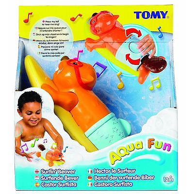 Tomy Surfin Wind Up Beaver Bath Time Toy, With Moving Tail & Singing Function