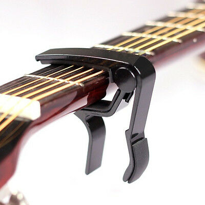 Black Trigger Quick Change Key Clamp Capo For Electric/Classic/ AcousticGuitar