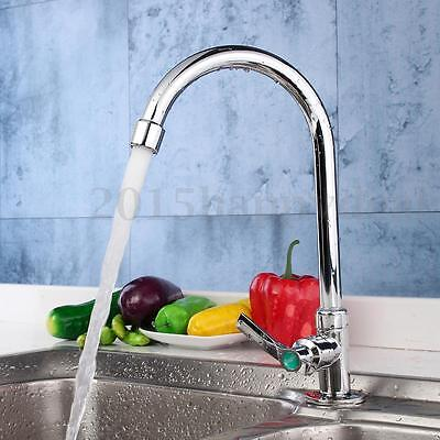 Modern Pull Out Spray Kitchen Single Lever Tap Sink Chrome Faucets Spout Cold