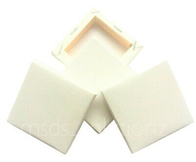 4Plain White Mini Small Square Canvas Acrylic/oil Paint 7Cm Drawing Sketch Board