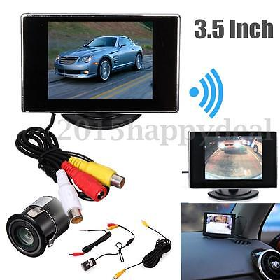 "IR Night Vision Reverse Camera +3.5"" LCD Monitor Car Rear View Kit for Bus Truck"
