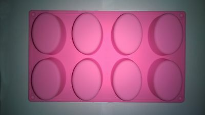 Diy Silicone  Soap Molds Cake Chocolate Molds 8 100g Ovals Stand Cavities