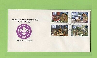 Gambia 1987 Scouts Australian Jamboree set on First Day Cover