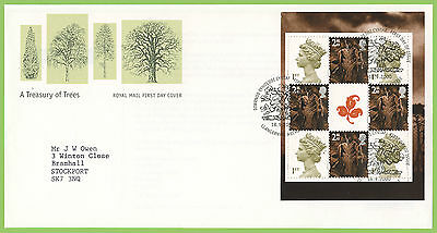 G.B. 2000 Treasury of Trees booklet pane Royal Mail First Day Cover, Abergele