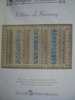 Ribbons Of Harmony Canvaswork Needlepoint Pattern -Perin- From Sampler Collectio