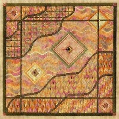 Laura Perin Impressionist Collection Canvaswork Chart & Embellishment- Amber