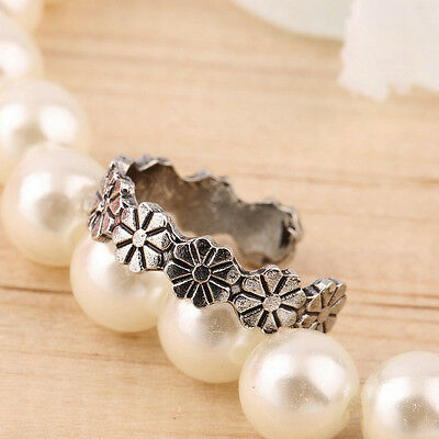 Womens adjustable Silver Plated Sexy Flower Toe Ring