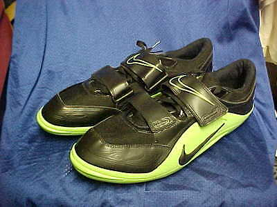 Nike Zoom Rotational IV Track & Field Black/Green 317587 003 Size 16 Wmns 17.5