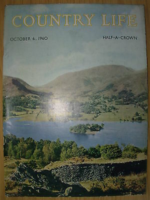 VINTAGE COUNTRY LIFE MAGAZINE OCTOBER 6th 1960 IDEAL BIRTHDAY GIFT - GRASMERE