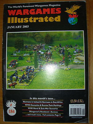 WARGAMES ILLUSTRATED No 184 JANUARY 2003 WWI NAVAL WAR SCENARIOS