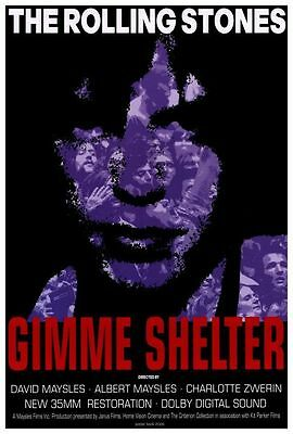 GIMME SHELTER (1970) Original Movie POSTER 27x40 inches with Mick Jagger