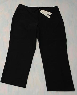 New Ladies Size 6 Spanner Inspired Style Black Pull on capri pants E953