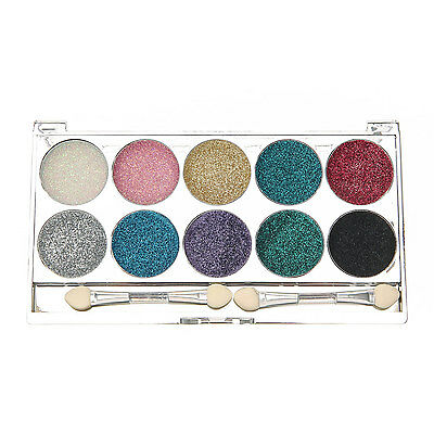 Claire's Girls and Womens 10 Piece Bright Glitter Eyeshadows