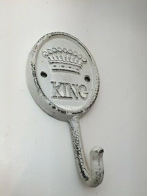 KING Coat / Hat Wall Hook Cast Iron