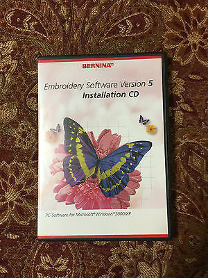 Bernina Embroidery Software Version 5 Installation and Training CDs- No Dongle