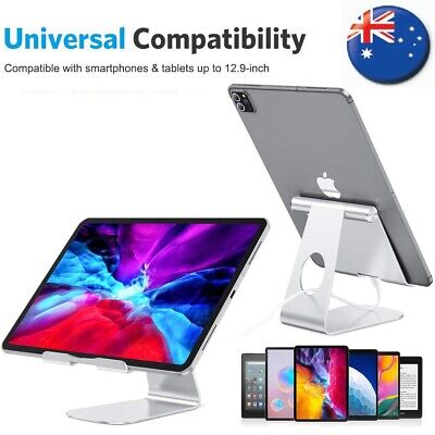 Universal Folding Aluminum Tablet Mount Holder Stand For iPad iPhone Samsung