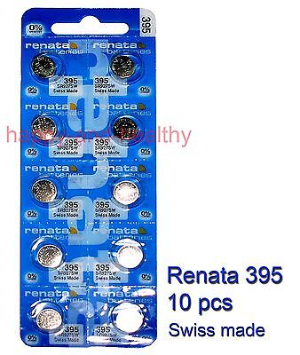 Renata SR927SW 395 Silver Oxide coin Battery x10 pcs Swiss Made FREE tracking