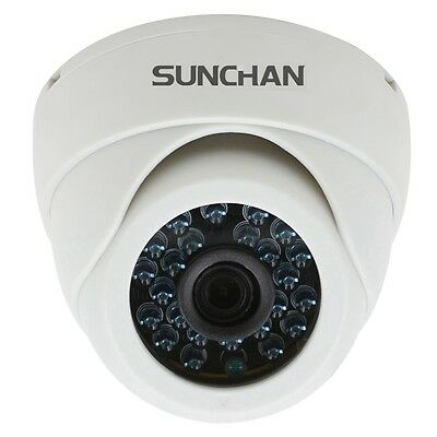 SUNCHAN 1.0MP AHD 720P Plastic Indoor IR Dome 3.6mm Day Night Security Cameras