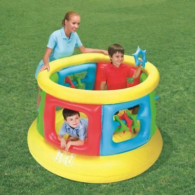 Bestway Inflatable Round Garden Gym Childrens Activity Play Centre Bouncy Castle