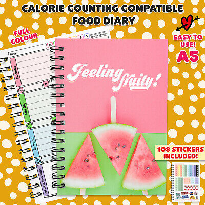 Food Diary, Diet, Slimming,Journal,Note, Log, Track, Weight Loss, Easy,Speed,Two