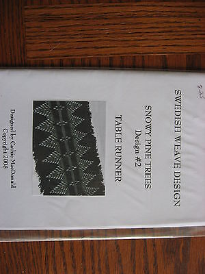 Snowy Pine Trees Swedish Weaving pattern Design #2 for Monks Cloth
