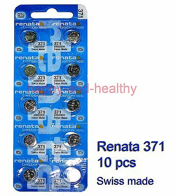 Renata SR920SW 371 Silver oxide coin Battery x 10 pcs Swiss Made FREE tracking