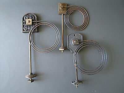 Job lot of 3 vintage mantel clock chimes gong with metal coil spares parts