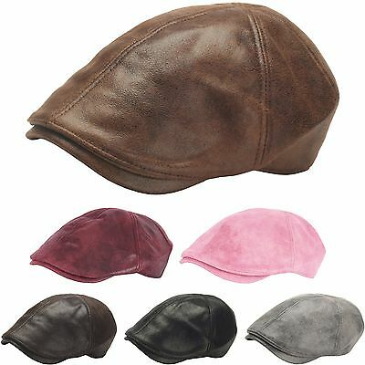 N17 Unisex Fashion Ivy Leather Newsboy Cap Cabbie Flat Golf Gatsby Driving Hat