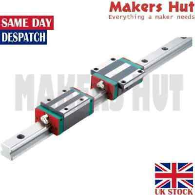 HIWIN HGR Linear Guide Rail 2x Rail Blocks - CNC - HGR 15 - 20 - 25 -30