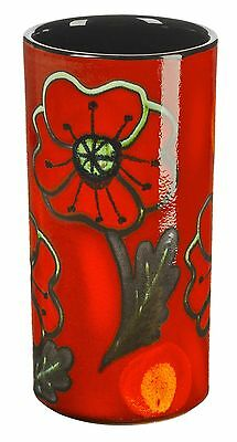 Poole Pottery Ceramic Poppyfield Small Pillar Vase 17cm First Quality UK Made