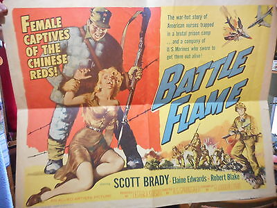 affiche battle flame (1959) Scott Braddy poster