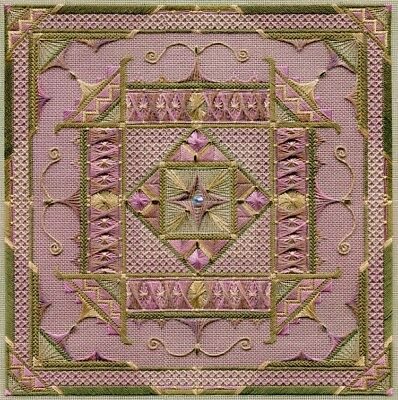 Arabesque Canvaswork CHART & Embellishments-Laura Perin-Sampler Collection