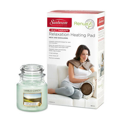 Extravagant Early Sunrise Kit | Renue Tension Relief Heat Wrap + Yankee Candle