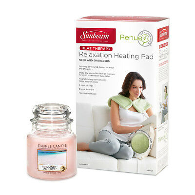 Prestigious Pink Sands Kit | Renue Tension Relief Heat Wrap + Yankee Candle