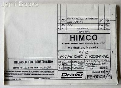 HIMCO Engineering Blueprint Drawing FE-0002 Reclaim Tunnel Scrubber Bldg 1983 VG