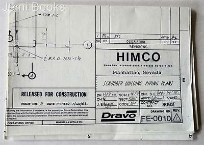 HIMCO Engineering Blueprint Drawing FE-0010 Scrubber Bldg Piping Plans 1983 VG
