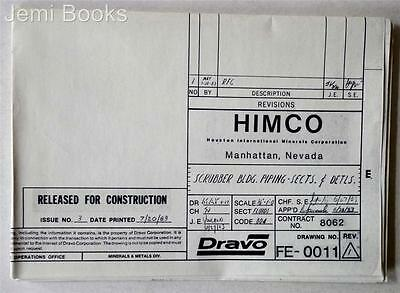 HIMCO Engineering Blueprint Drawing FE-0011 Scrubber Bldg Piping Sects Detls VG