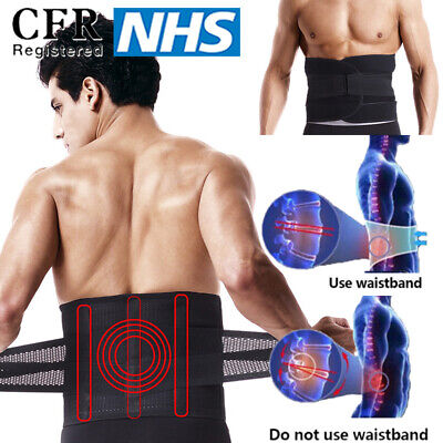 Best Mens Body Belly Toner Tummy Waist Shaper Stomach Back Support Belt Uk