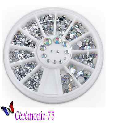Carrousel 320 Strass 5 Tailles / Argent Ongles Nail Art Manucure