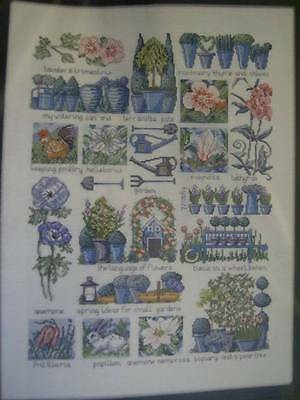 Permin Language Of Flowers Sampler Cross Stitch Chart #154510