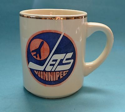 Vintage Winnipeg Jets Coffee Mug 1979-90 Era Logo
